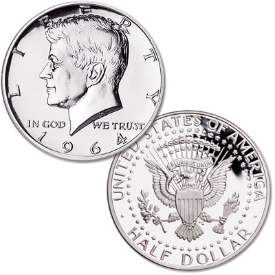 Image for 1964 Kennedy Half Dollar, 90% Silver Proof from Littleton Coin Company