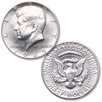 Image for 1965 Kennedy Half Dollar, From Special Mint Set from Littleton Coin Company