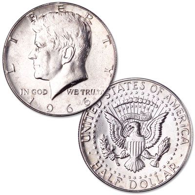 Image for 1966 Kennedy Half Dollar, From Special Mint Set from Littleton Coin Company