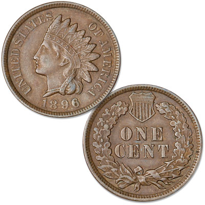 Image for 1896 Indian Head Cent, Variety 3, Bronze from Littleton Coin Company