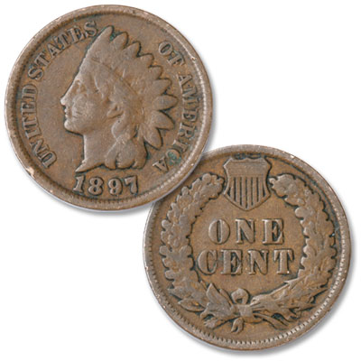 Image for 1897 Indian Head Cent, Variety 3, Bronze from Littleton Coin Company