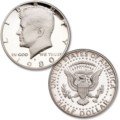 Image for 1980-S Kennedy Half Dollar, Choice Proof, PR63 from Littleton Coin Company