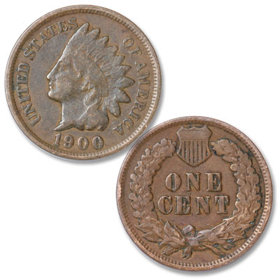 Image for 1900 Indian Head Cent, Variety 3, Bronze from Littleton Coin Company