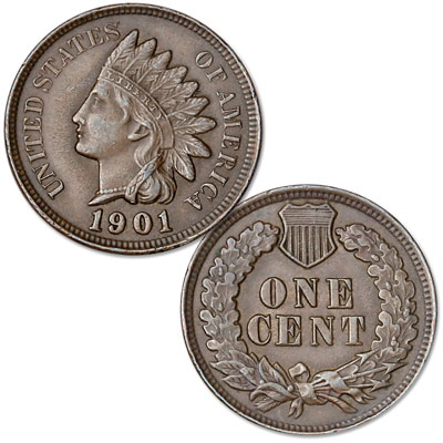 Image for 1901 Indian Head Cent, Variety 3, Bronze from Littleton Coin Company