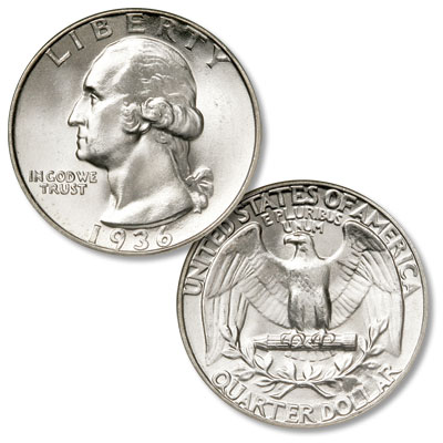Image for 1936 Washington Silver Quarter from Littleton Coin Company