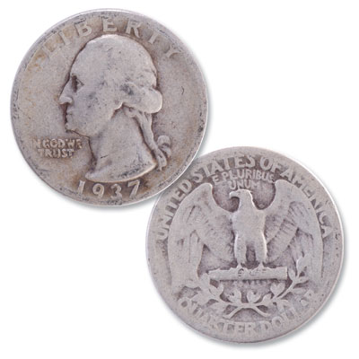 Image for 1937 Washington Silver Quarter from Littleton Coin Company