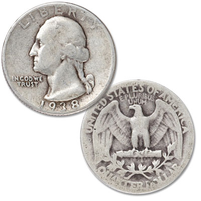 Image for 1938 Washington Silver Quarter from Littleton Coin Company