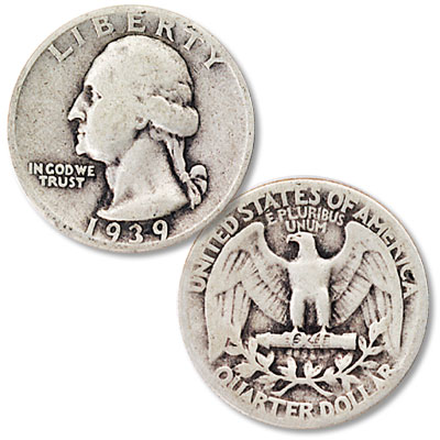 Image for 1939 Washington Silver Quarter from Littleton Coin Company