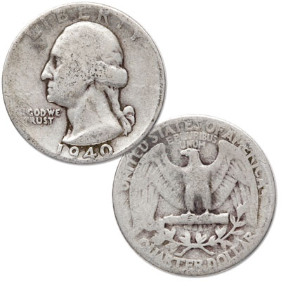 Image for 1940 Washington Silver Quarter from Littleton Coin Company