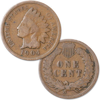 Image for 1904 Indian Head Cent, Variety 3, Bronze from Littleton Coin Company