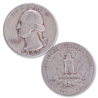 Image for 1942 Washington Silver Quarter from Littleton Coin Company