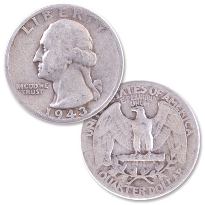 Image for 1943 Washington Silver Quarter from Littleton Coin Company