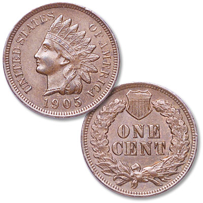 Image for 1905 Indian Head Cent, Variety 3, Bronze from Littleton Coin Company