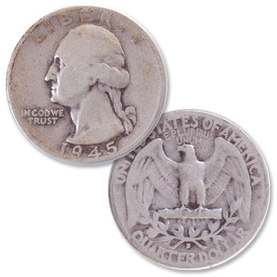 Image for 1945-D Washington Silver Quarter from Littleton Coin Company