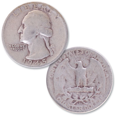 Image for 1945-S Washington Silver Quarter from Littleton Coin Company