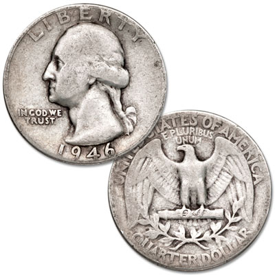 Image for 1946 Washington Silver Quarter from Littleton Coin Company