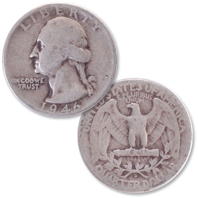 Image for 1946-D Washington Silver Quarter from Littleton Coin Company