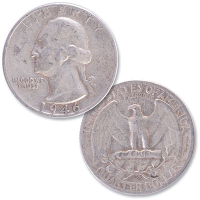 Image for 1946-S Washington Silver Quarter from Littleton Coin Company