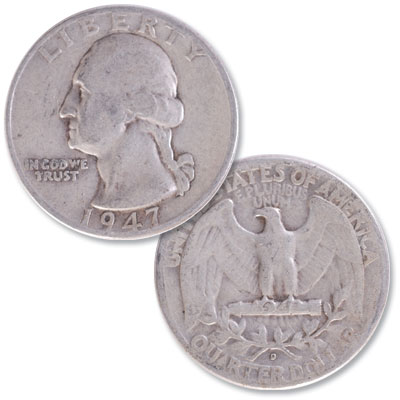 Image for 1947-D Washington Silver Quarter from Littleton Coin Company