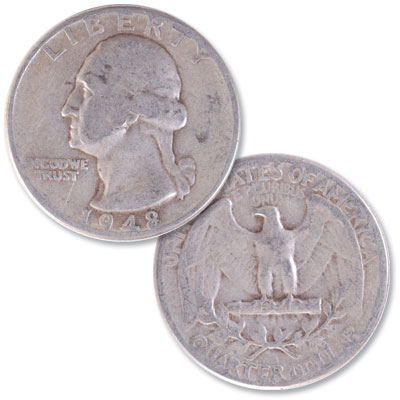 Image for 1948 Washington Silver Quarter from Littleton Coin Company