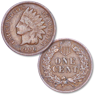 Image for 1906 Indian Head Cent, Variety 3, Bronze from Littleton Coin Company