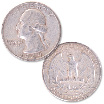 Image for 1949 Washington Silver Quarter from Littleton Coin Company