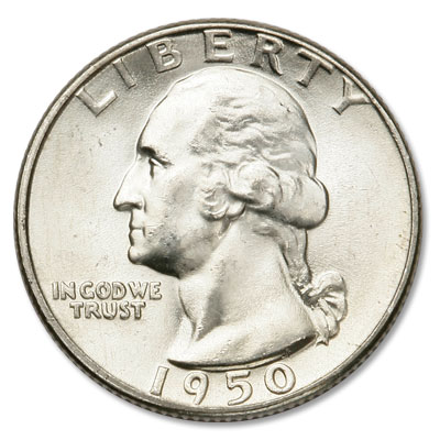 Image for 1950 Washington Silver Quarter from Littleton Coin Company