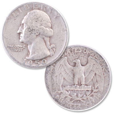 Image for 1950-D Washington Silver Quarter from Littleton Coin Company