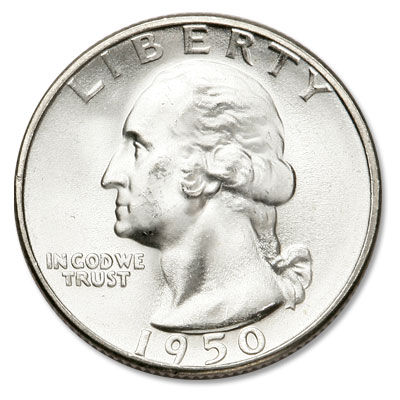 Image for 1950-S Washington Silver Quarter from Littleton Coin Company