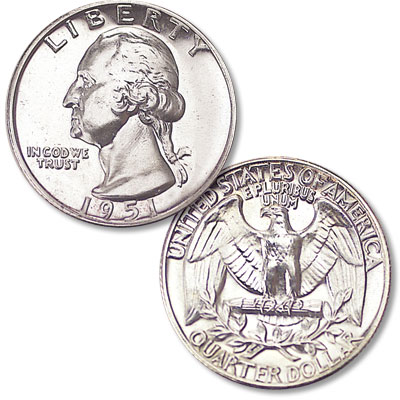 Image for 1951 Washington Silver Quarter from Littleton Coin Company