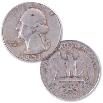 Image for 1951-D Washington Silver Quarter from Littleton Coin Company