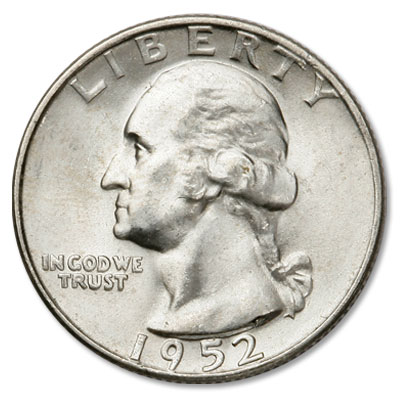 Image for 1952 Washington Silver Quarter from Littleton Coin Company