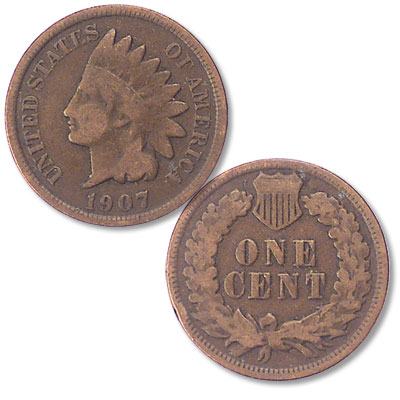Image for 1907 Indian Head Cent, Variety 3, Bronze from Littleton Coin Company