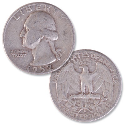 Image for 1952-D Washington Silver Quarter from Littleton Coin Company