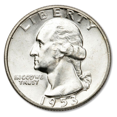 Image for 1953 Washington Silver Quarter from Littleton Coin Company