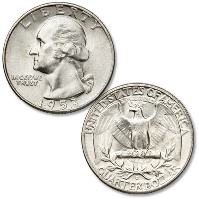 Image for 1953-D Washington Silver Quarter from Littleton Coin Company