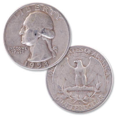 Image for 1953-S Washington Silver Quarter from Littleton Coin Company