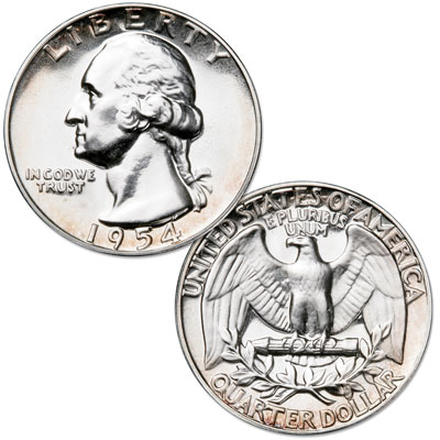 Image for 1954 Washington Silver Quarter from Littleton Coin Company