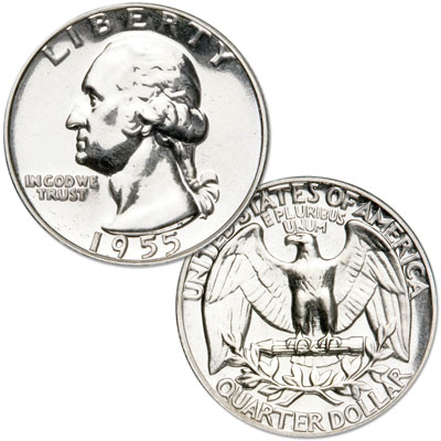 Image for 1955 Washington Silver Quarter from Littleton Coin Company