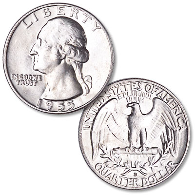 Image for 1955-D Washington Silver Quarter from Littleton Coin Company