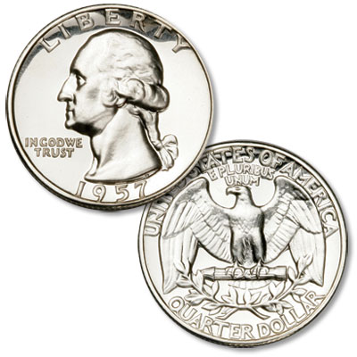 Image for 1957 Washington Silver Quarter from Littleton Coin Company