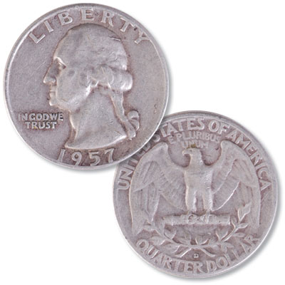 Image for 1957-D Washington Silver Quarter from Littleton Coin Company