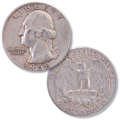 Image for 1958 Washington Silver Quarter from Littleton Coin Company
