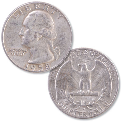 Image for 1958-D Washington Silver Quarter from Littleton Coin Company