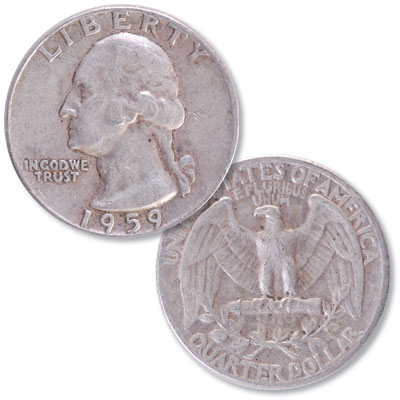 Image for 1959 Washington Silver Quarter from Littleton Coin Company