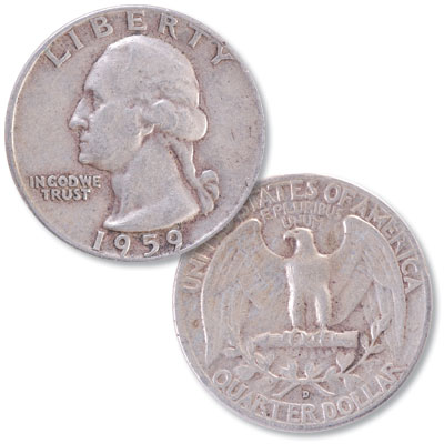 Image for 1959-D Washington Silver Quarter from Littleton Coin Company