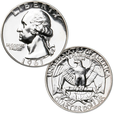 Image for 1961 Washington Silver Quarter from Littleton Coin Company