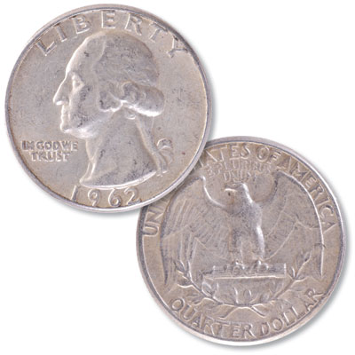 Image for 1962 Washington Silver Quarter from Littleton Coin Company
