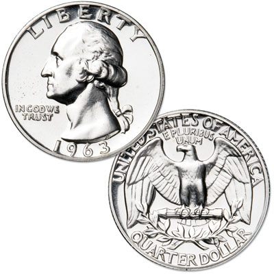 Image for 1963 Washington Silver Quarter from Littleton Coin Company