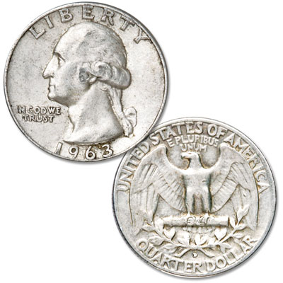 Image for 1963-D Washington Silver Quarter from Littleton Coin Company